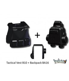 Tactical Weste mit Rucksack 