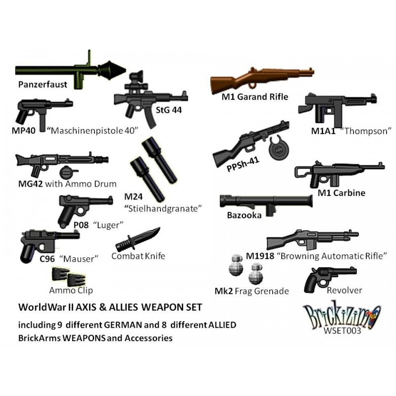 BRiCKiZiMO AXIS And ALLIES Weapon Set