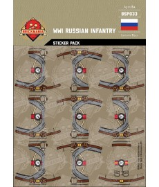 WW1 - Russische Infanterie - Sticker Pack