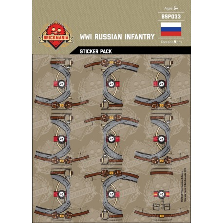 WW1 - Russian Infantry - Sticker Pack
