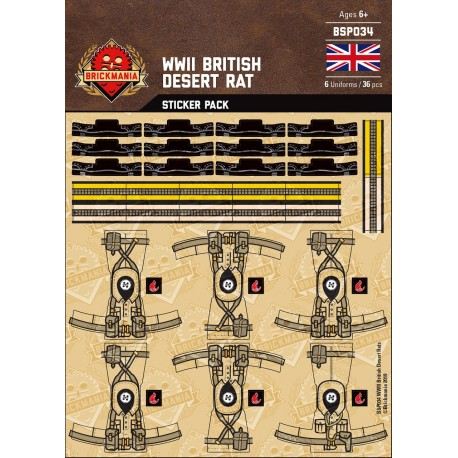 WW2 - British Infantry - Sticker Pack