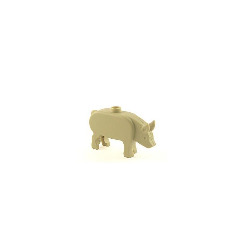 BrickForge Schwein - Hellbraun