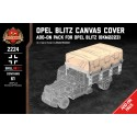 Canvas Bed Cover - Pack for Opel Blitz (BKM2223)