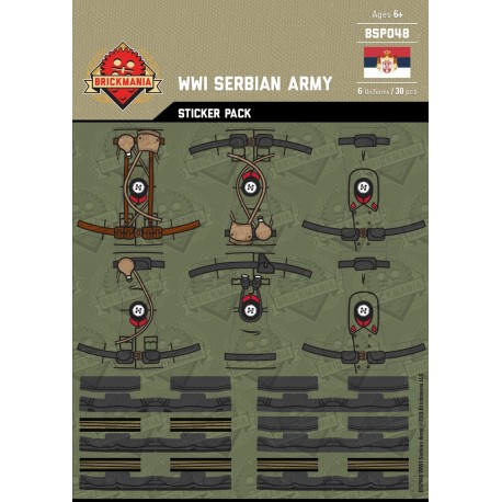 WW1 - Serbian Army - Sticker Pack