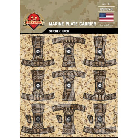 Marine Plate Carrier - Sticker Pack