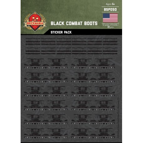 Black Combat Boots - Sticker Pack