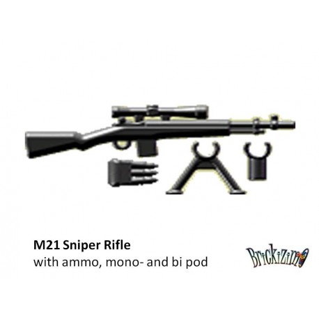 M21 Sniper Rifle with ammo, mono- and bi pod