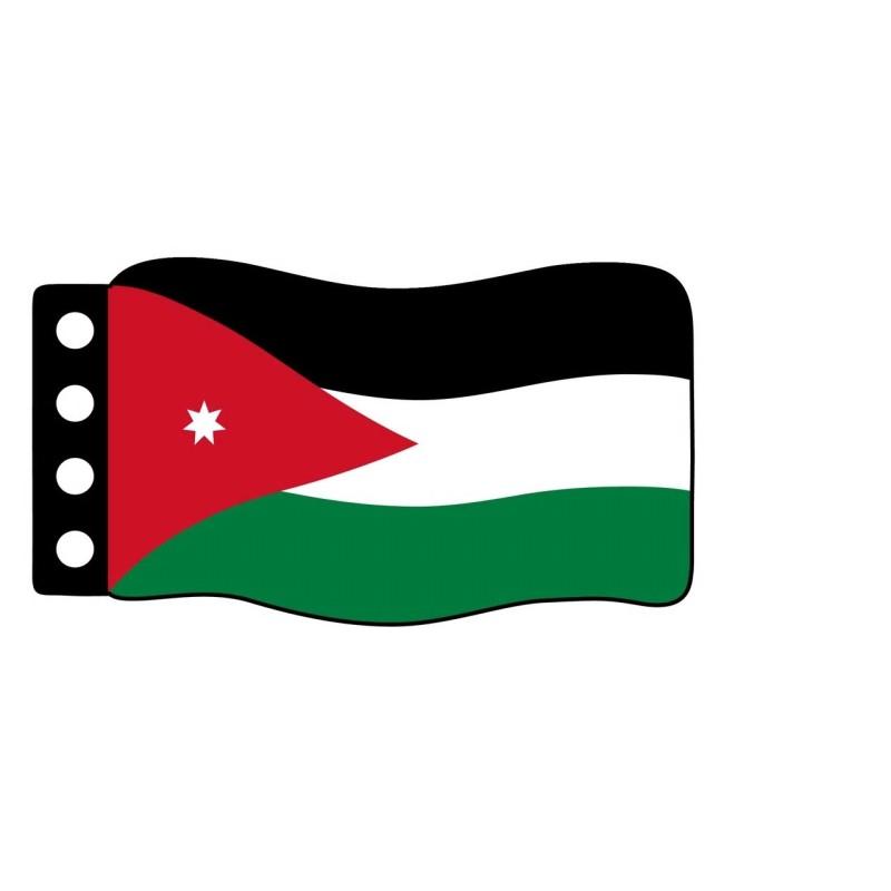 Vlag : Jordanië