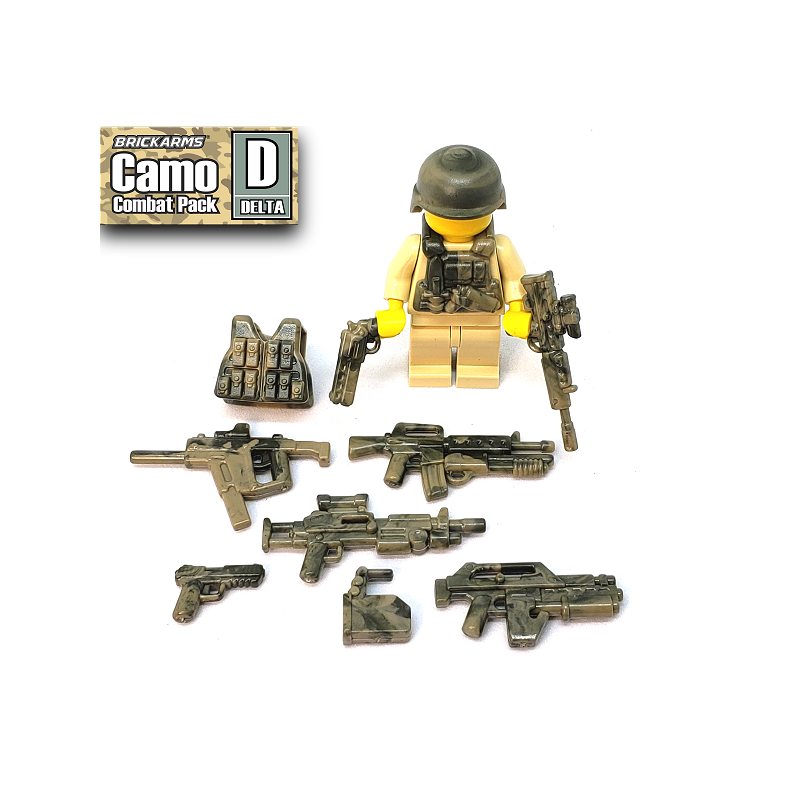 BrickArms Camo Combat Pack D 2.5-Inch Weapons Pack Delta