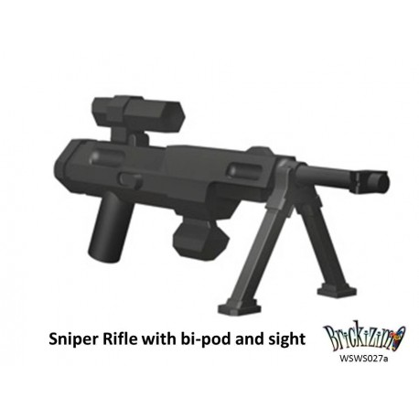 Sniper Rifle with bi pod and sight