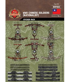 WW2 - Chinese Soldiers Nationalist - Sticker Pack