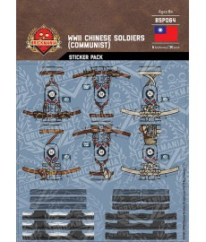 WW2 - Chinese Soldiers Communist - Sticker Pack