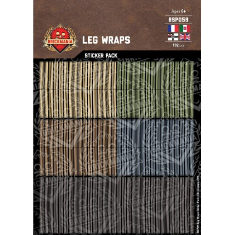 WW1 & 2 - Leg Wraps - Sticker Pack