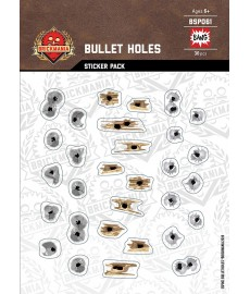 Bullet Holes Metal Concrete Wood - Sticker Pack