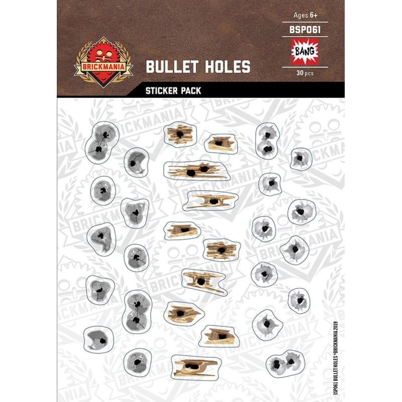 Einschusslöcher Metall Beton Holz - Sticker Pack