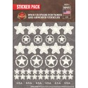 WW2 - US Stars for Tanks and Armored Vehicles - Sticker Pack