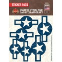 WW2 - US Stars And Bars For Aircraft - Sticker Pack