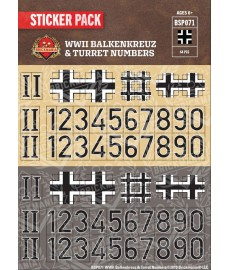 WW2 - Balkenkreuz & Turret Numbers - Sticker Pack