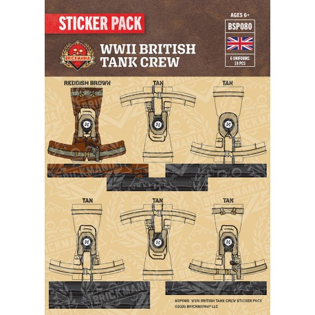 WW2 - Britse Tank Crewmen- Sticker Pack