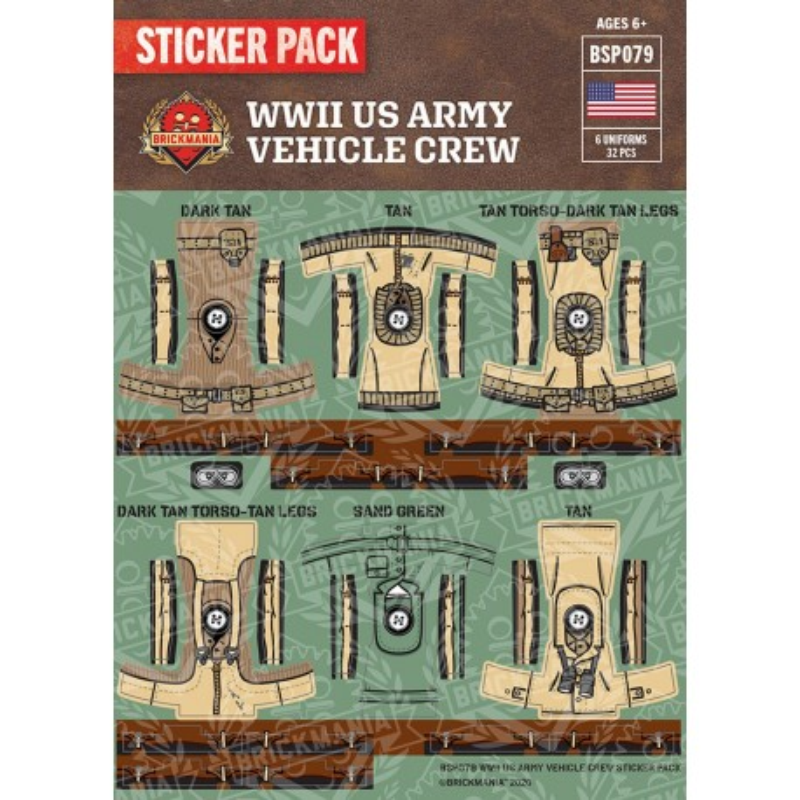 WW2 - Britse Tank Crewmen- Sticker Pack