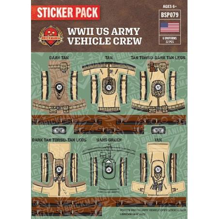 WW2 - US Army Vehicle Crew - Sticker Pack