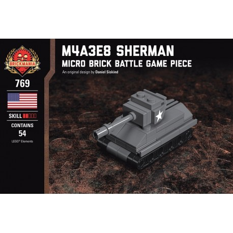M4A3E8 Sherman - Micro Brick Battle
