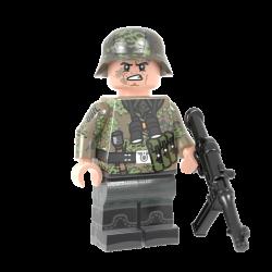 WKII Deutsche Kursk Soldat mit MP40