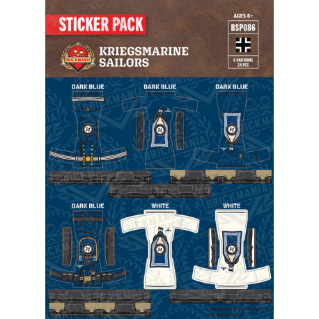 WW2 - Kriegsmarine Sailors - Sticker Pack