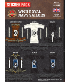 WW2 - Royal Navy Sailors - Sticker Pack