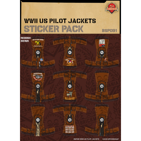 WW2 - US Pilot Jackets - Sticker Pack