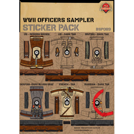 WW2 - Officers Sampler - Sticker Pack