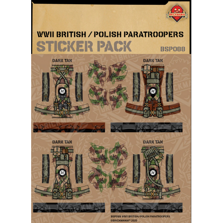 WW2 - British - Polish Paratroopers - Sticker Pack