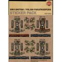 WW2 - British - Polish Paratroopers- Sticker Pack