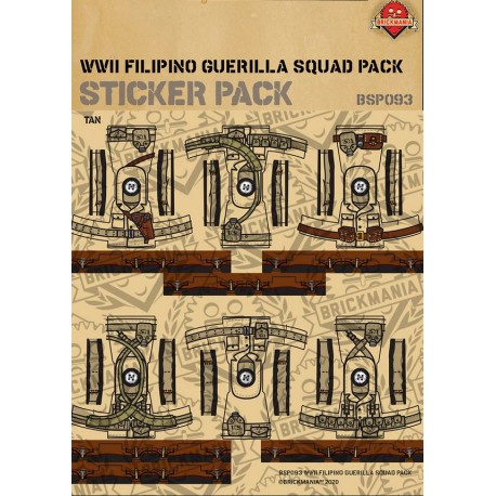 WW2 Filipino Guerilla Squad Pack - Sticker Pack