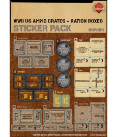 WW2 - US Ammo Crates and Ration Boxes - Sticker Pack