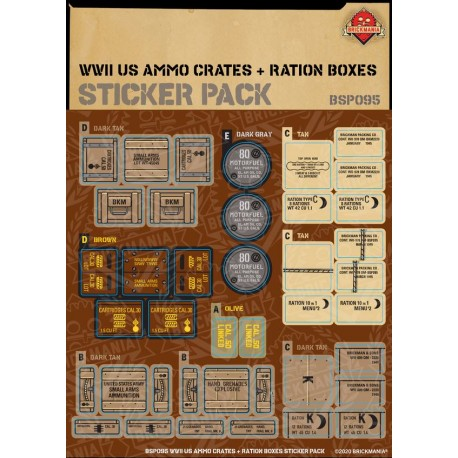 WW2 - Ammo Crates and Ration Boxes - Sticker Pack