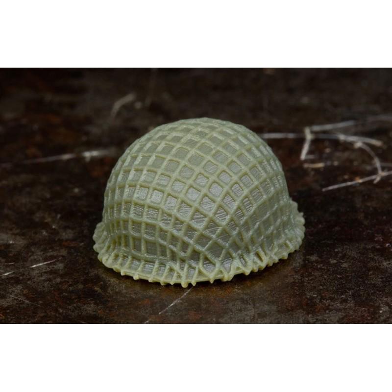Netted BrickArms® M1 Steel Pot Helmet