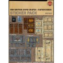 WW2 - British Ammo Crates and Ration Boxes - Sticker Pack