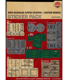 WW2 - Russian Ammo Crates and Ration Boxes - Sticker Pack