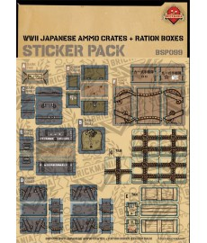 WW2 - Japanese Ammo Crates and Ration Boxes - Sticker Pack