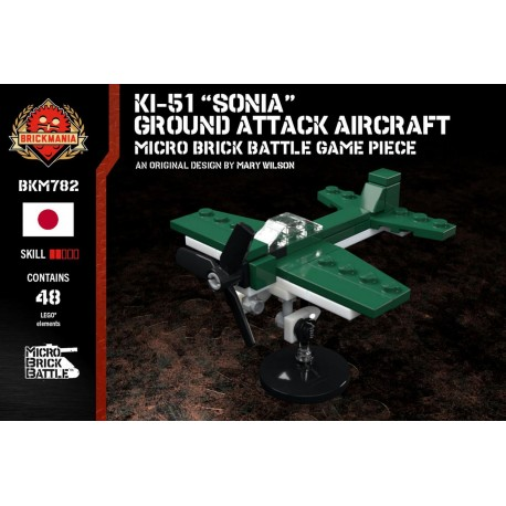 "Ki-51 ""Sonia"" Ground Attack Aircraft - Micro Brick Battle"
