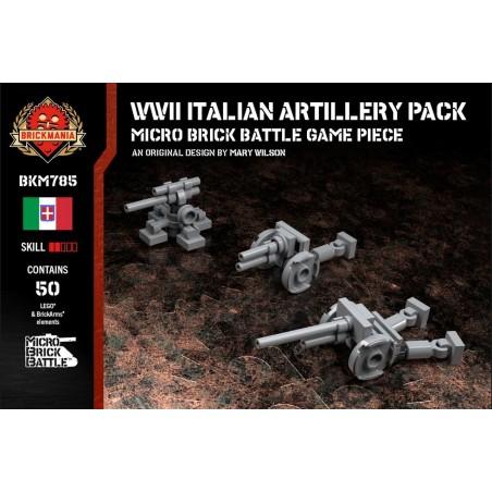 WWII Italian Artillery Pack - Micro Brick Battle