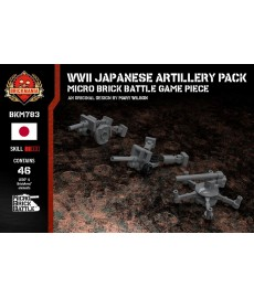 WWII Japanese Artillery Pack - Micro Brick Battle