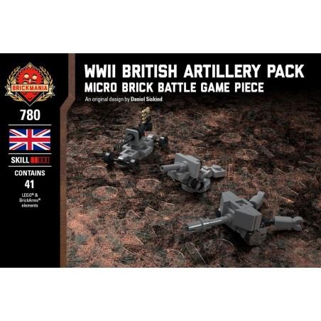 WWII British Artillery Pack - Micro Brick Battle