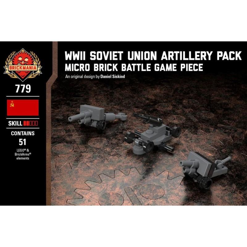 WWII Soviet Artillery Pack - Micro Brick Battle
