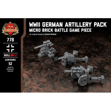 WWII German Artillery Pack - Micro Brick Battle