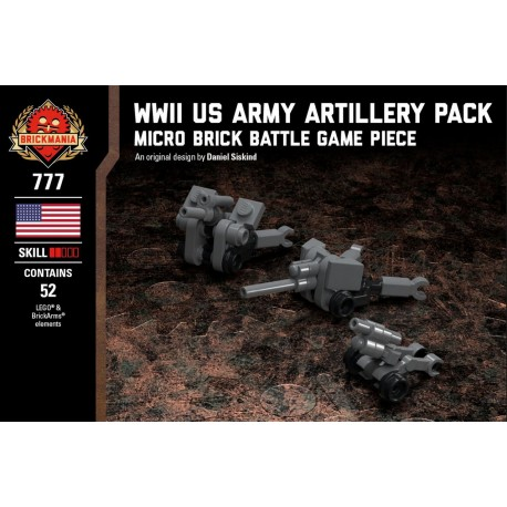 WWII US Army Artillery Pack - Micro Brick Battle