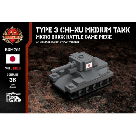 Type 3 Chi-Nu Medium Tank - Micro Brick Battle