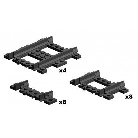Short Straight Rails Pack