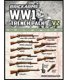 WW1 Trench Pack v2 wapen set voor LEGO Minifigures